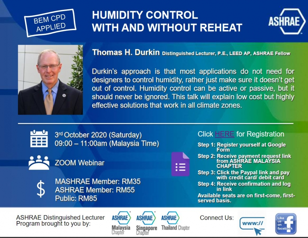 WEBINAR : HUMIDITY CONTROL WITH AND WITHOUT REHEAT