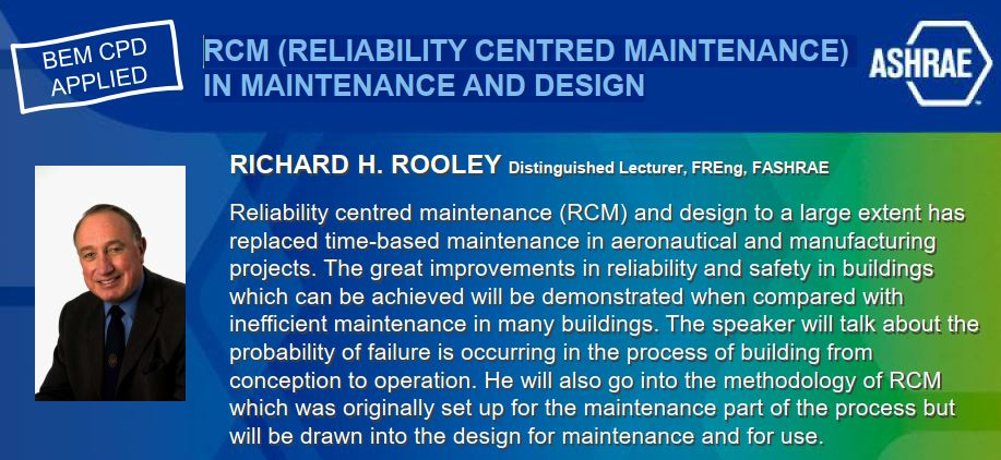 WEBINAR : RCM (RELIABILITY CENTRED MAINTENANCE)  IN MAINTENANCE AND DESIGN