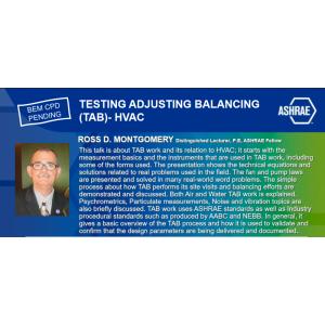 WEBINAR : TESTING ADJUSTING BALANCING (TAB)- HVAC
